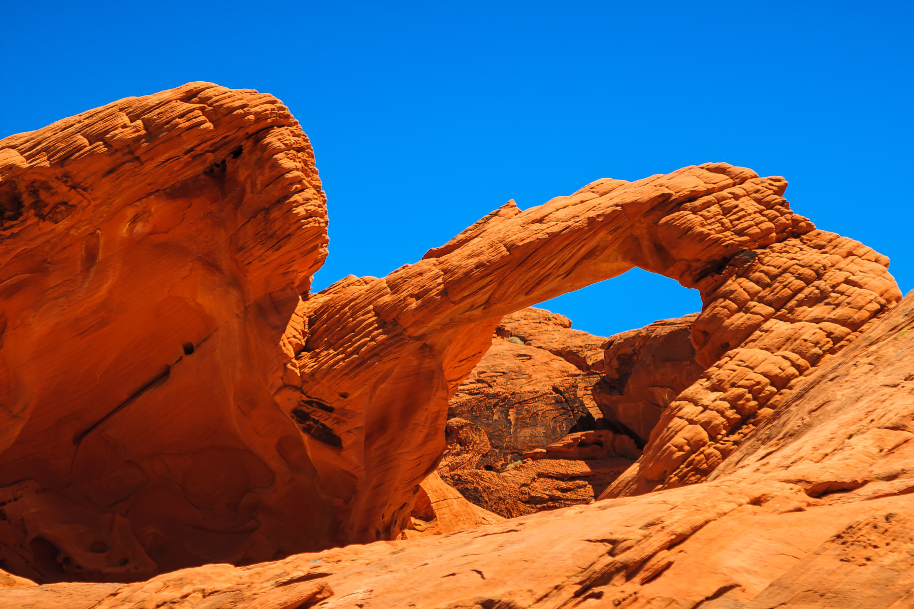 A rock arch at Valley of Fire State Park, Nevada.