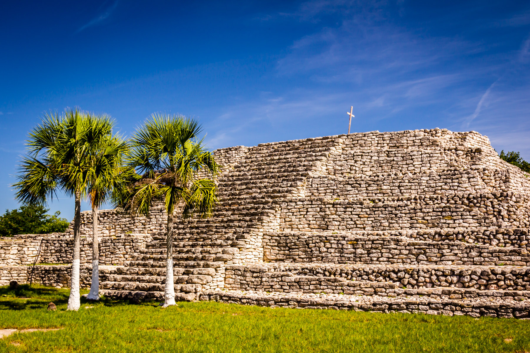 The main pyramid at the ruins of the Mayan city of Xcambo, Yucatan, Mexico.