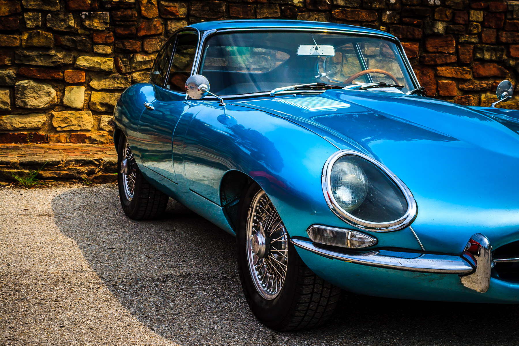 A classic Jaguar spotted at Dallas' All British and European Car Day.