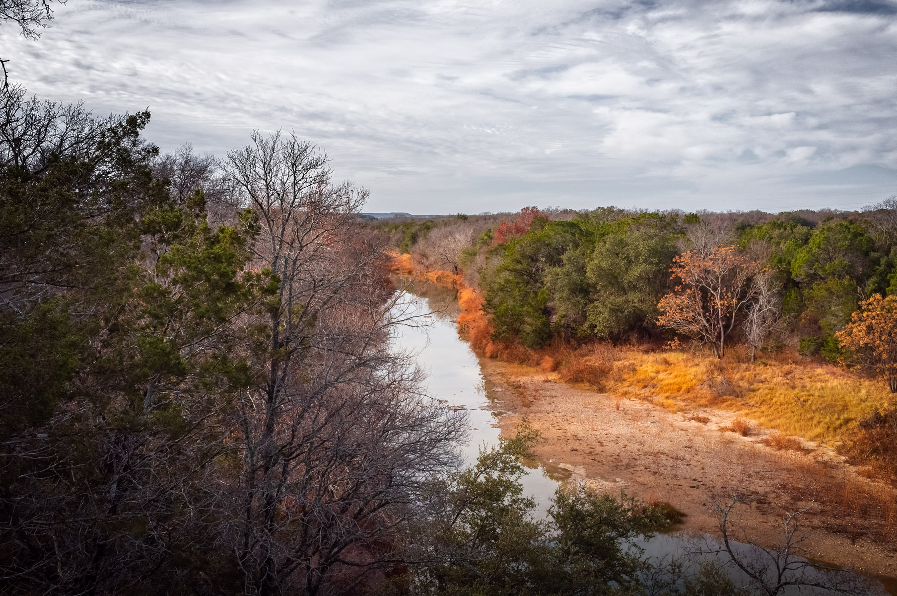 The Paluxy River snakes through Dinosaur Valley State Park near Glen Rose, Texas.