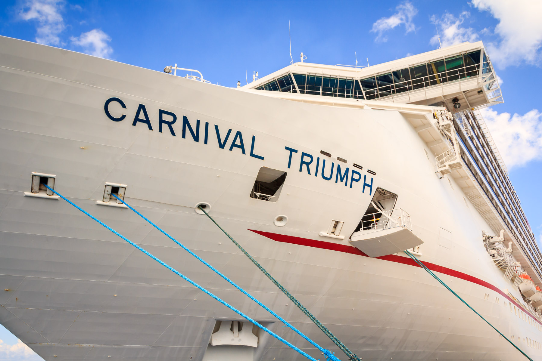 The cruise ship Carnival Triumph, docked in Cozumel, Mexico.