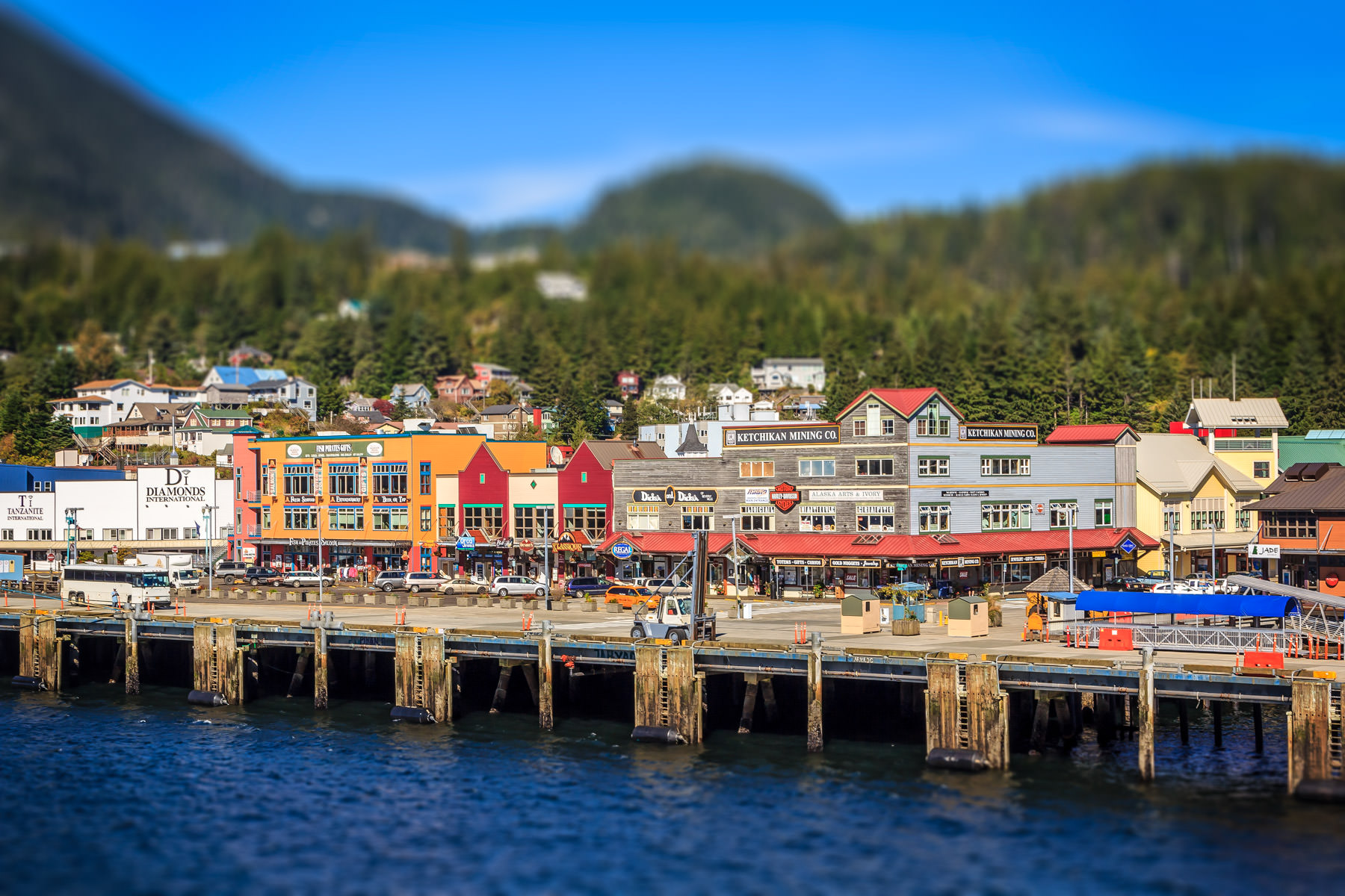 The cruise ship pier at Ketchikan, Alaska.
