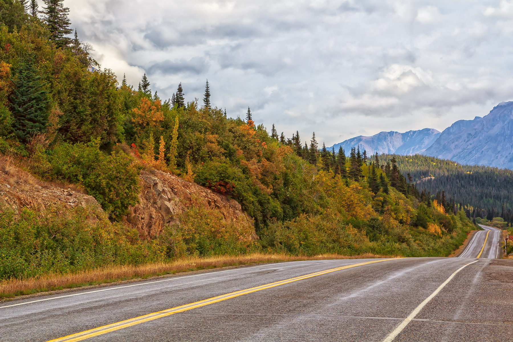 The Klondike Highway, passing through British Columbia.
