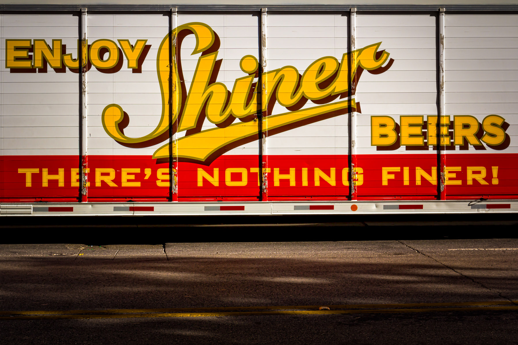 A Shiner Beer truck spotted in Downtown Dallas.
