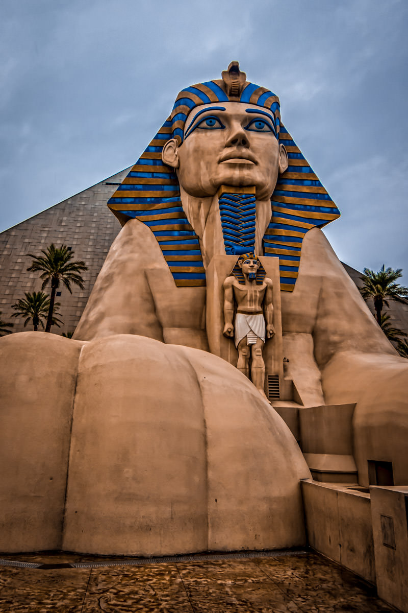 The sphinx at Las Vegas' Luxor Hotel & Casino.