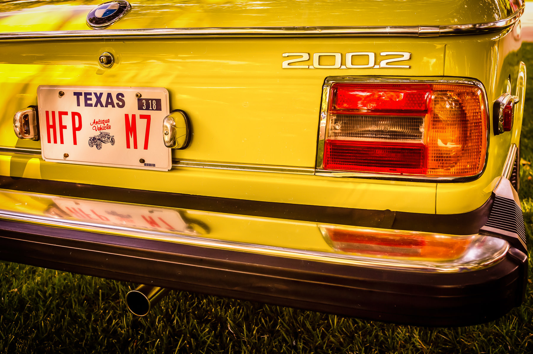 A BMW 2002 at the Autos in the Park event at Dallas' Cooper Aerobics Center.
