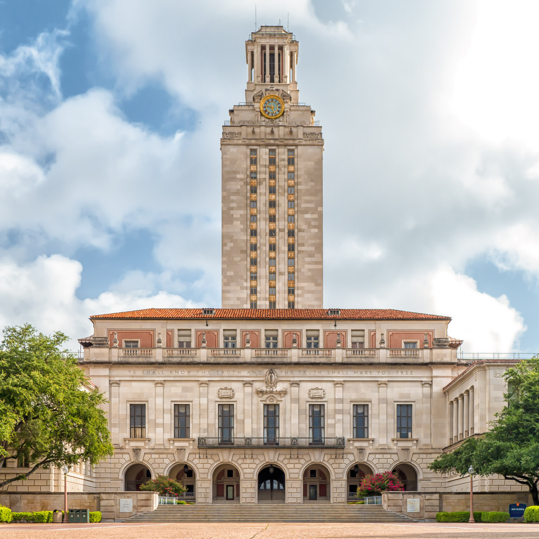 The 307-foot-tall Main Building at the University of Texas at Austin. In 1967, this building became the site of the infamous sniper killings of 14 people perpetrated by Charles Whitman.