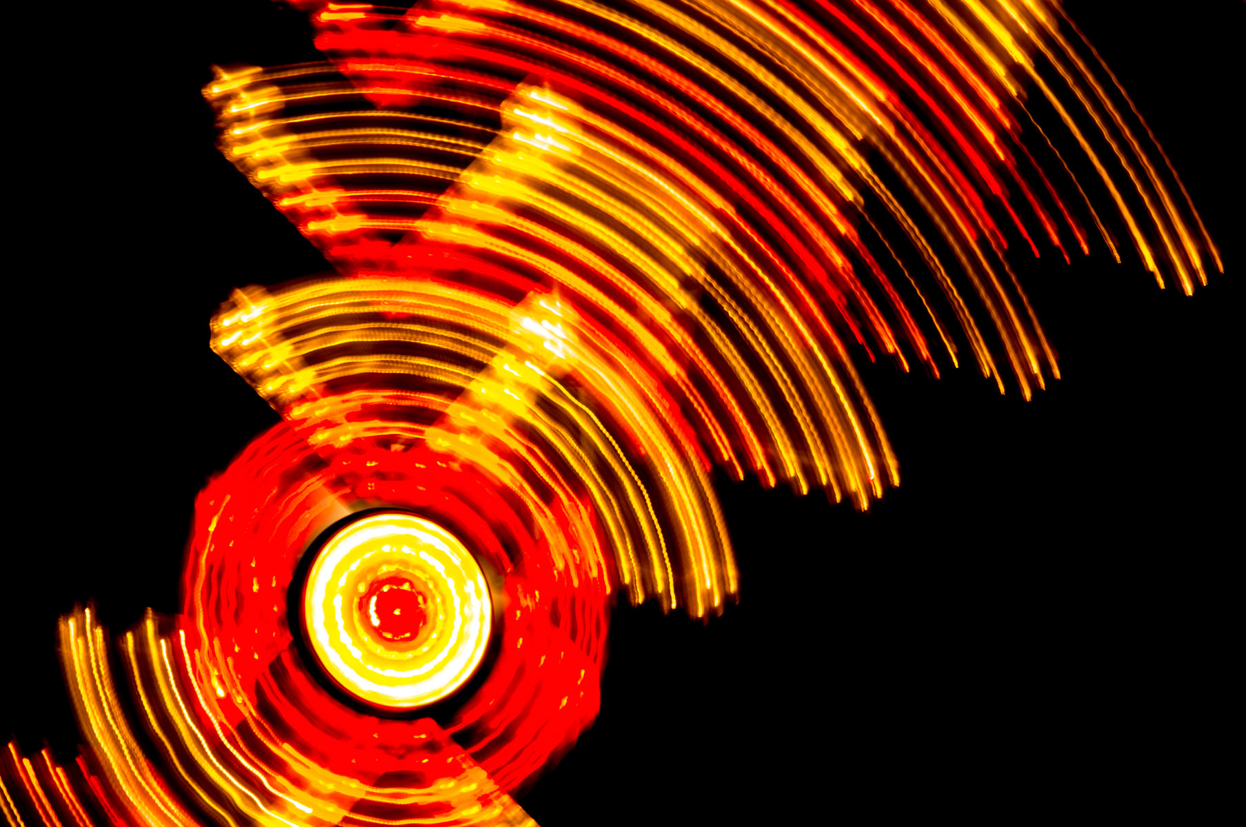A long exposure of a carnival ride at Addison Oktoberfest, Addison, Texas.