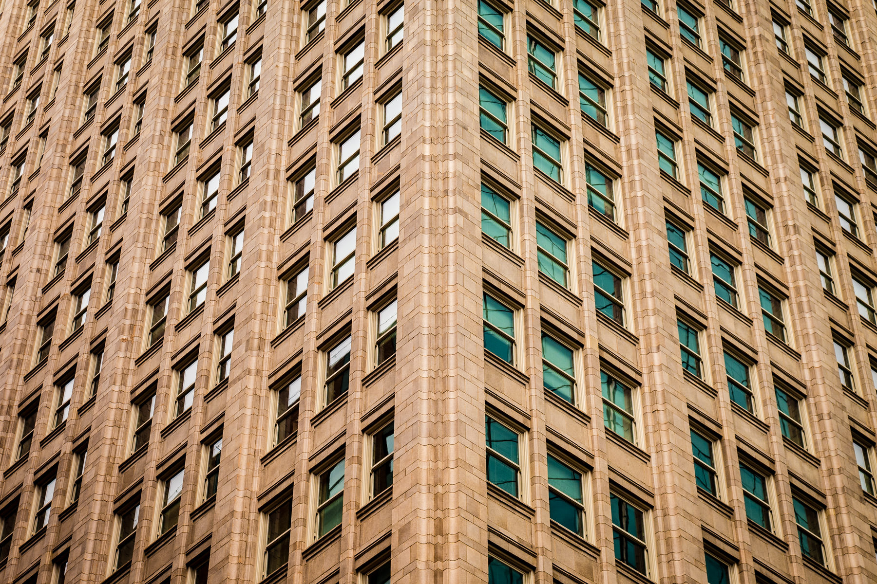 Architectural detail of Downtown Fort Worth, Texas' 714 Main, built in 1920 and restored in 2010.