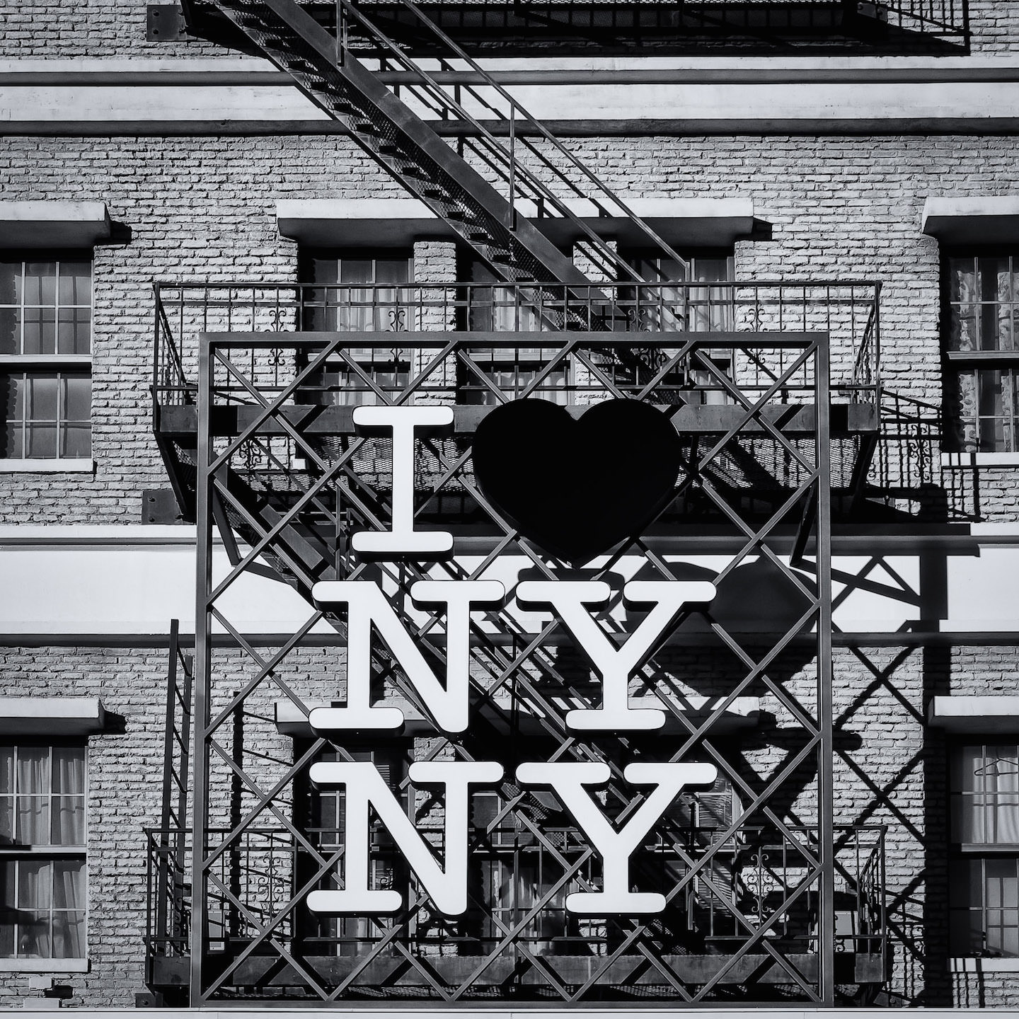 A variation on New York City's iconic slogan, emblazoned on a fake, scene-setting fire escape at Las Vegas' New York New York Hotel & Casino.