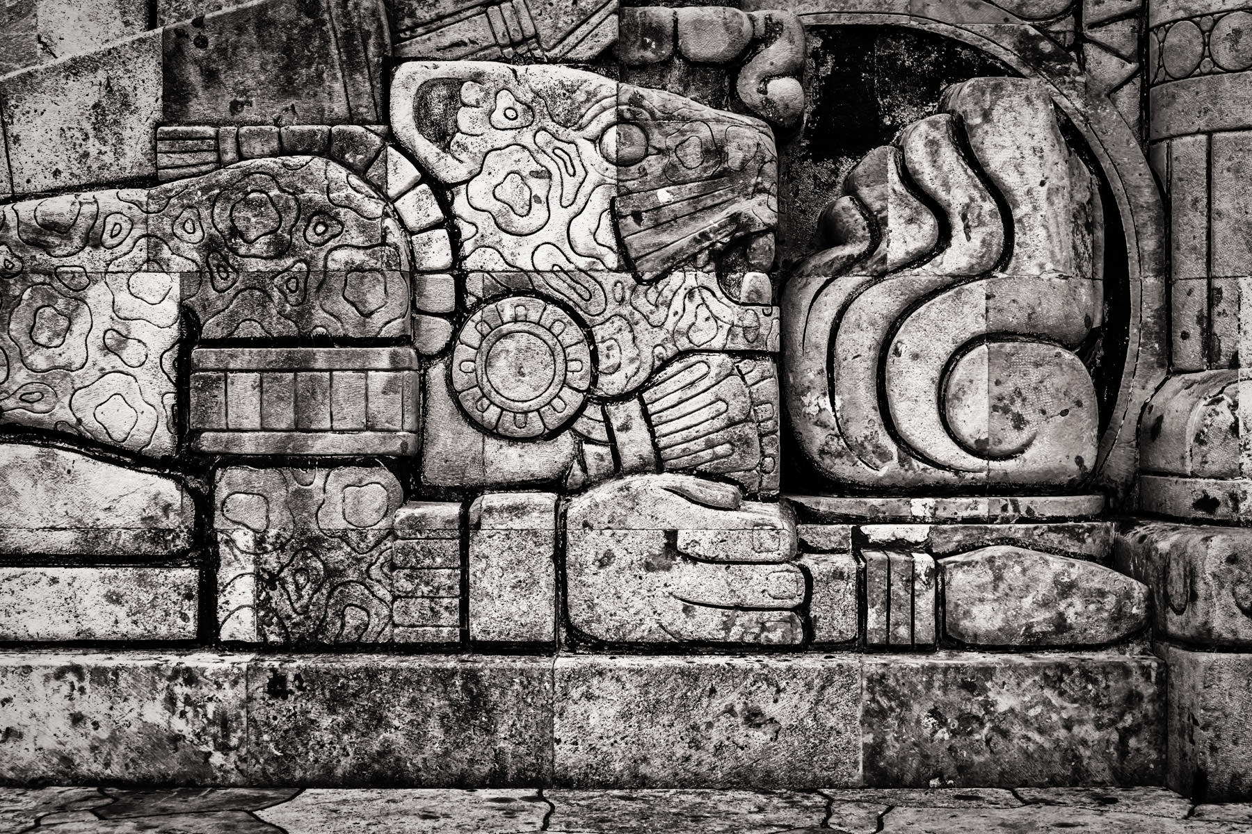 "Detail of sculptor Romulo Rozo's 1956 ""Monumento a la Patria"" (Monument to the Homeland), which depicts the history of Mexico, in Mérida, Yucatán."