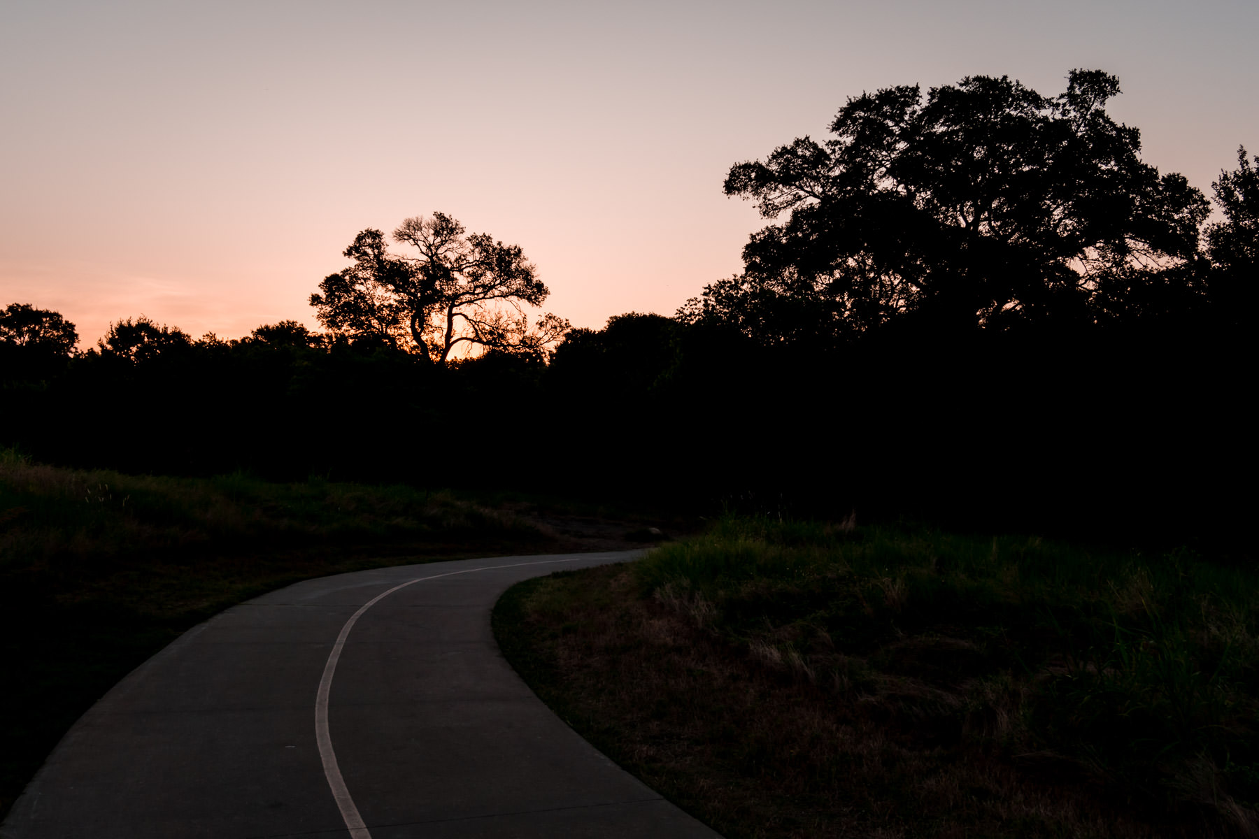 The sun rises on Plano, Texas' Arbor Hills Nature Preserve.