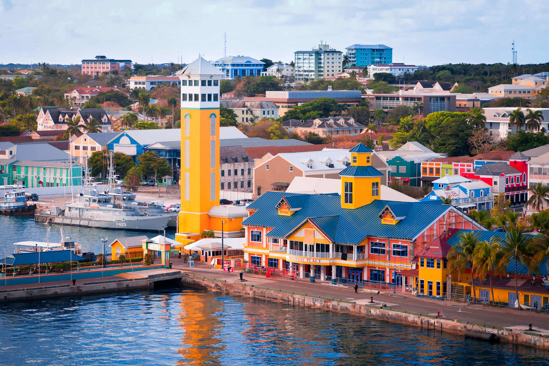 The colorful, vivid environs of Nassau, Bahamas.