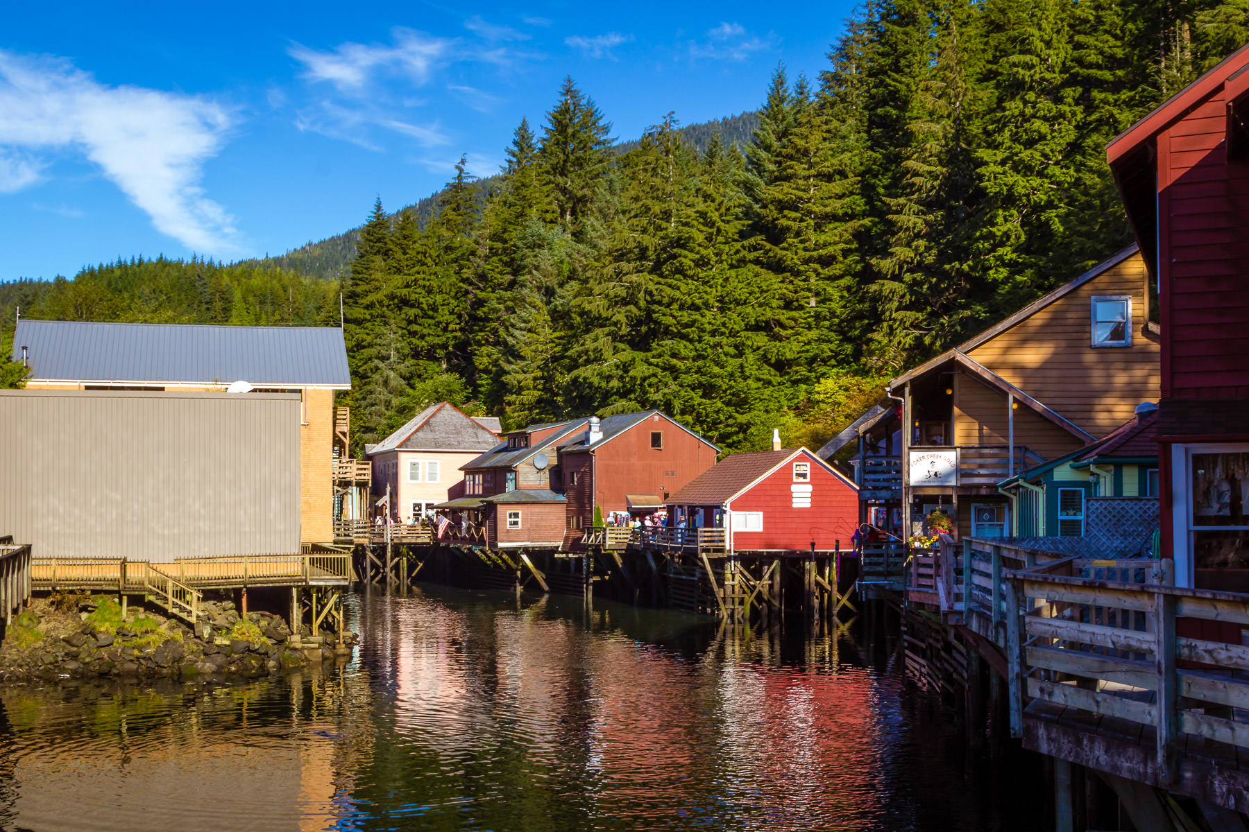 Creek Street—Ketchikan, Alaska's former Red Light District—is now the center of the town's tourist district.