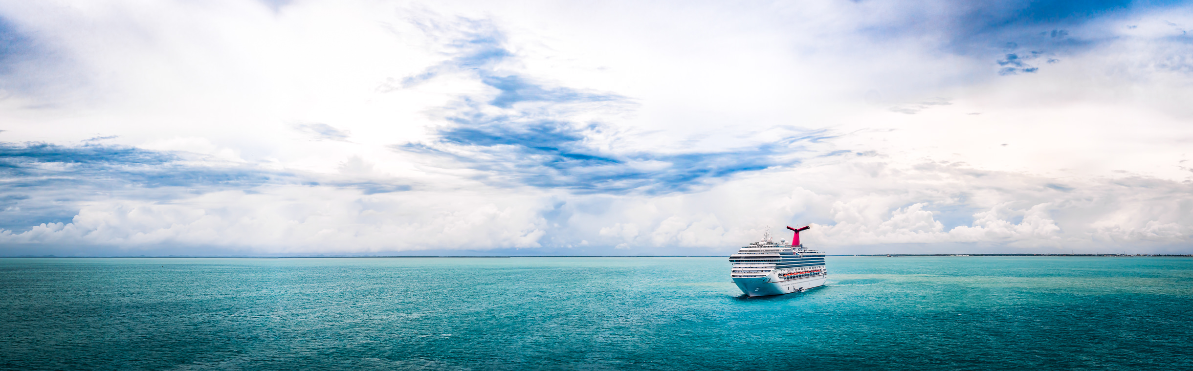 The cruise shipCarnival Glory sits anchored off the coast of Belize.