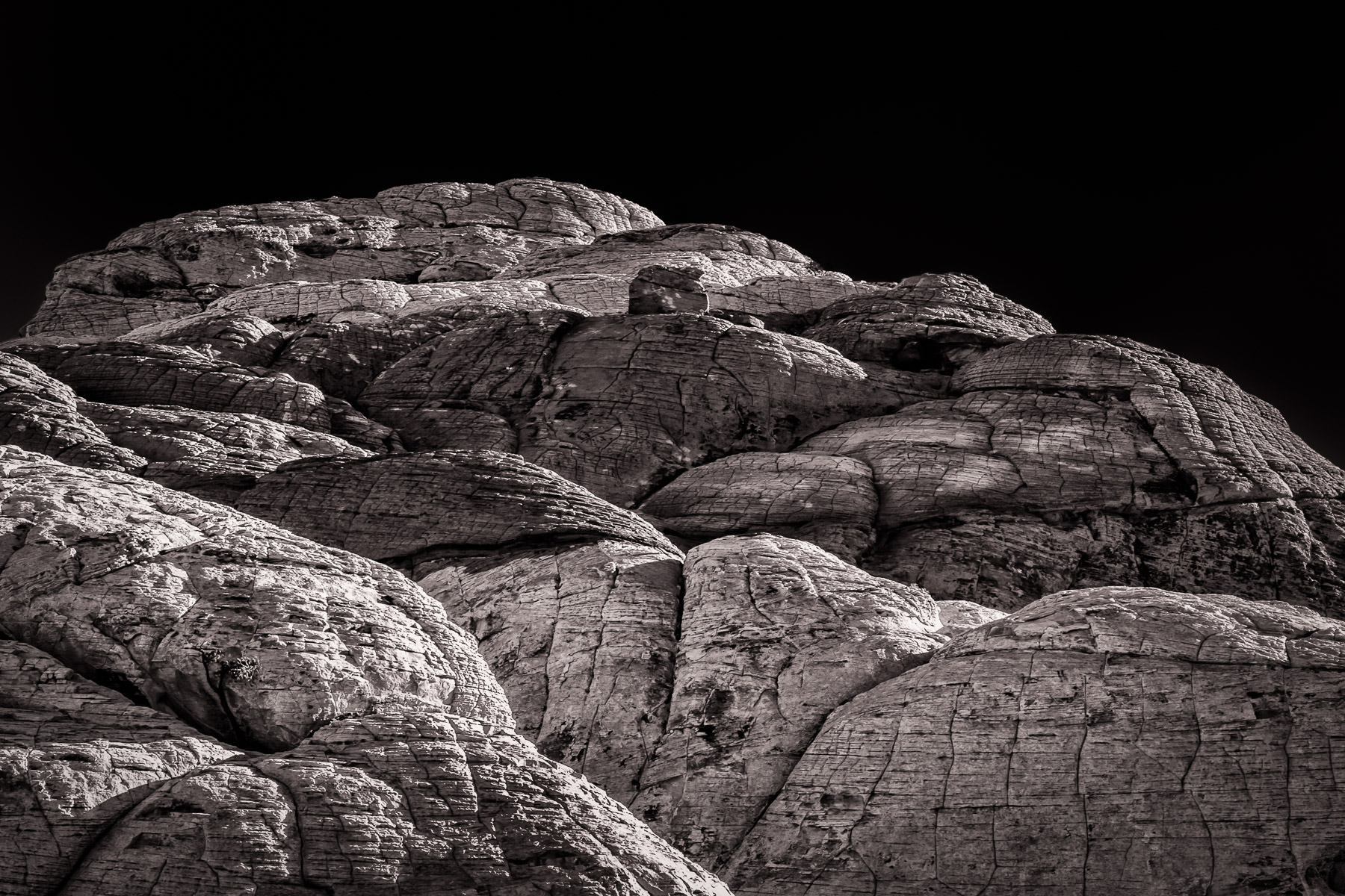 Detail of rocks at Nevada's Red Rock Canyon.