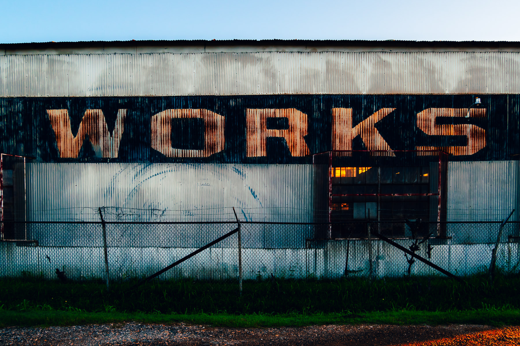 Signage on an industrial building in West Dallas, Texas.