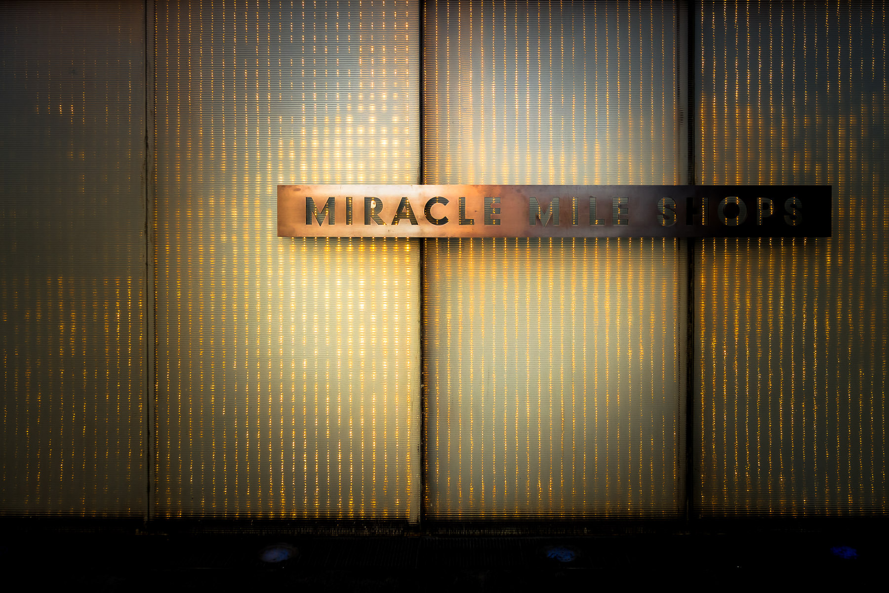 A sign at the Miracle Mile Shops at Planet Hollywood Casino and Resort, Las Vegas.