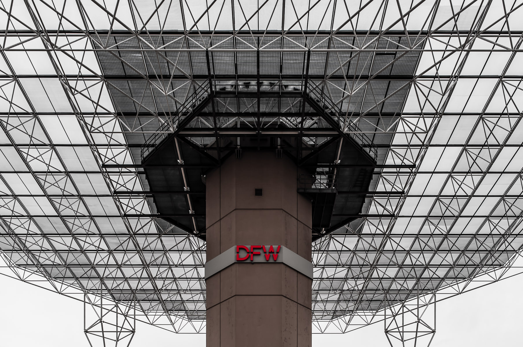 Detail of the FAA's Maverick VOR/DME at DFW International Airport, Texas.