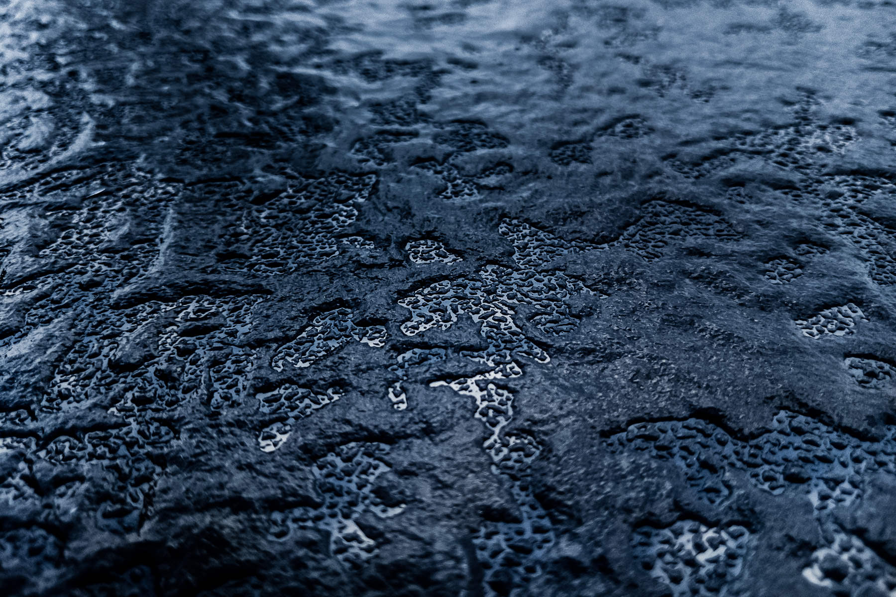 Ice from a freezing rainfall, spotted on a car in The Colony, Texas.