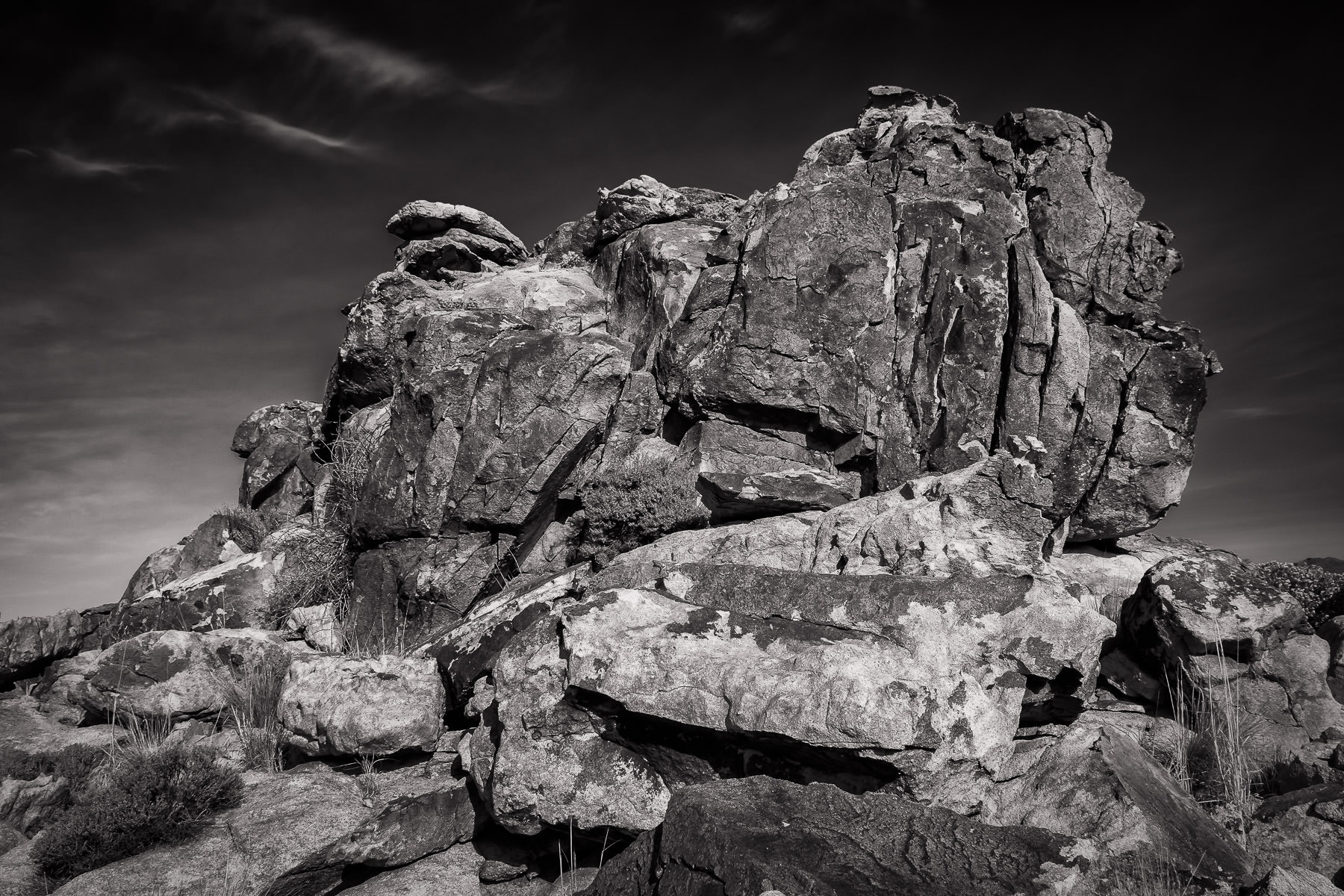 A rocky outcropping at the Mojave National Preserve, California.