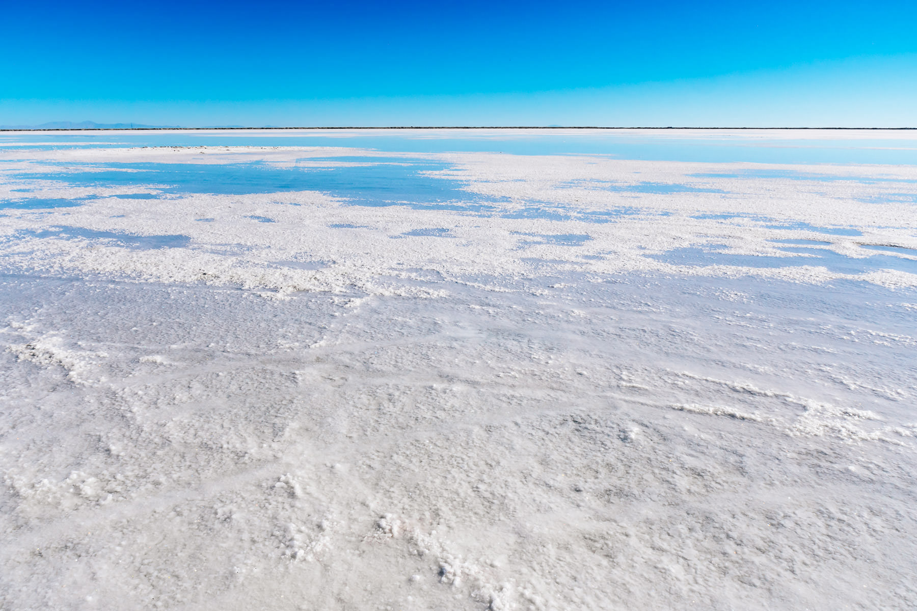 Utah's Bonneville Salt Flats seem to stretch into the distance for forever.