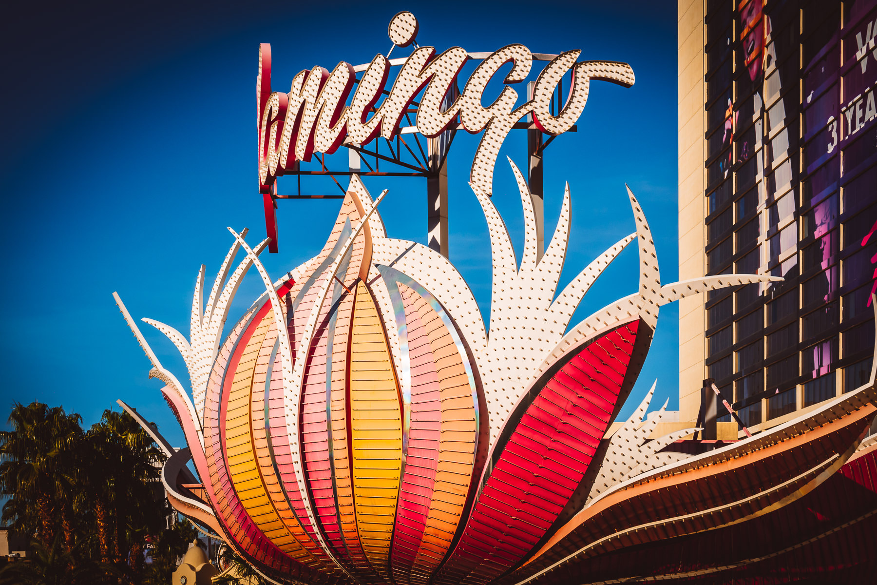 One of the signs at Las Vegas Flamingo Hotel and Casino.