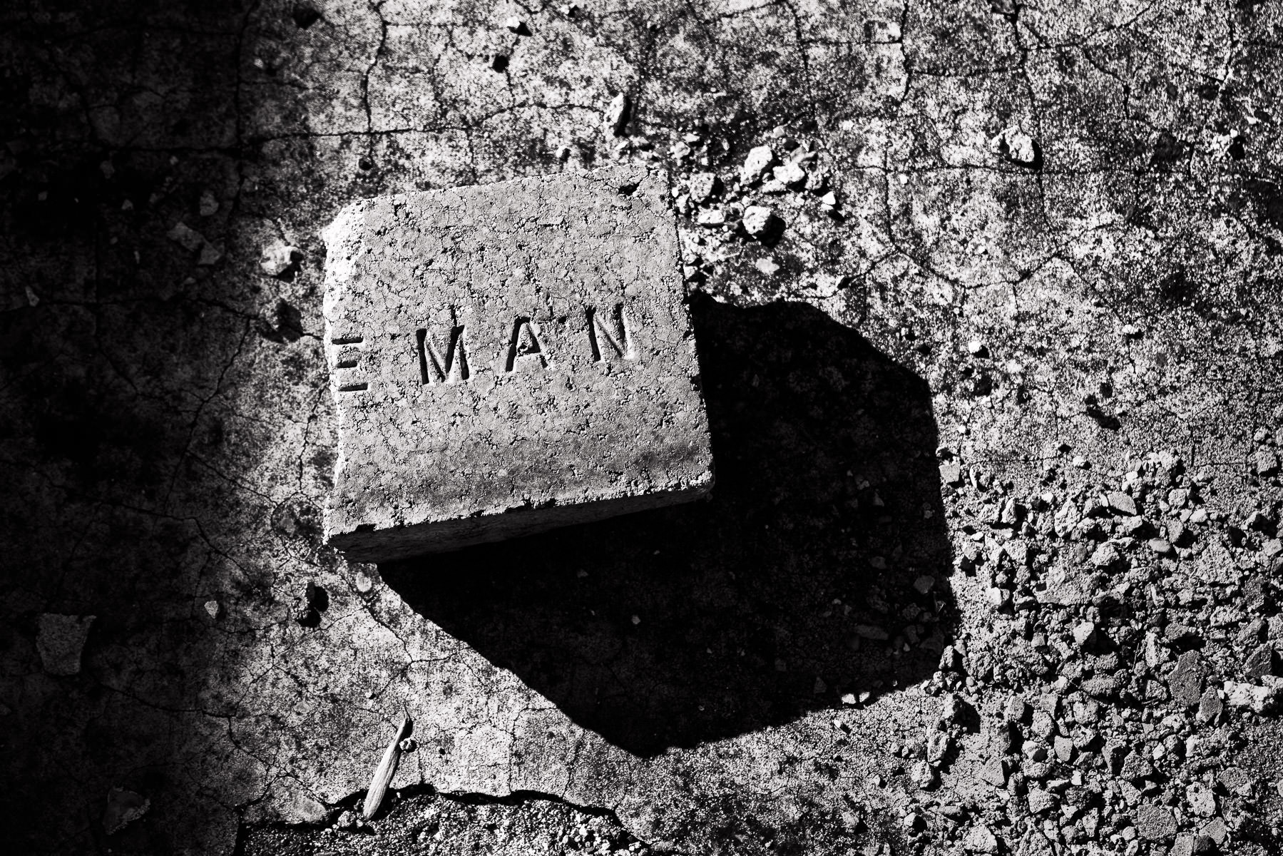 A old brick found among the ruins of Fort Washita, Oklahoma.