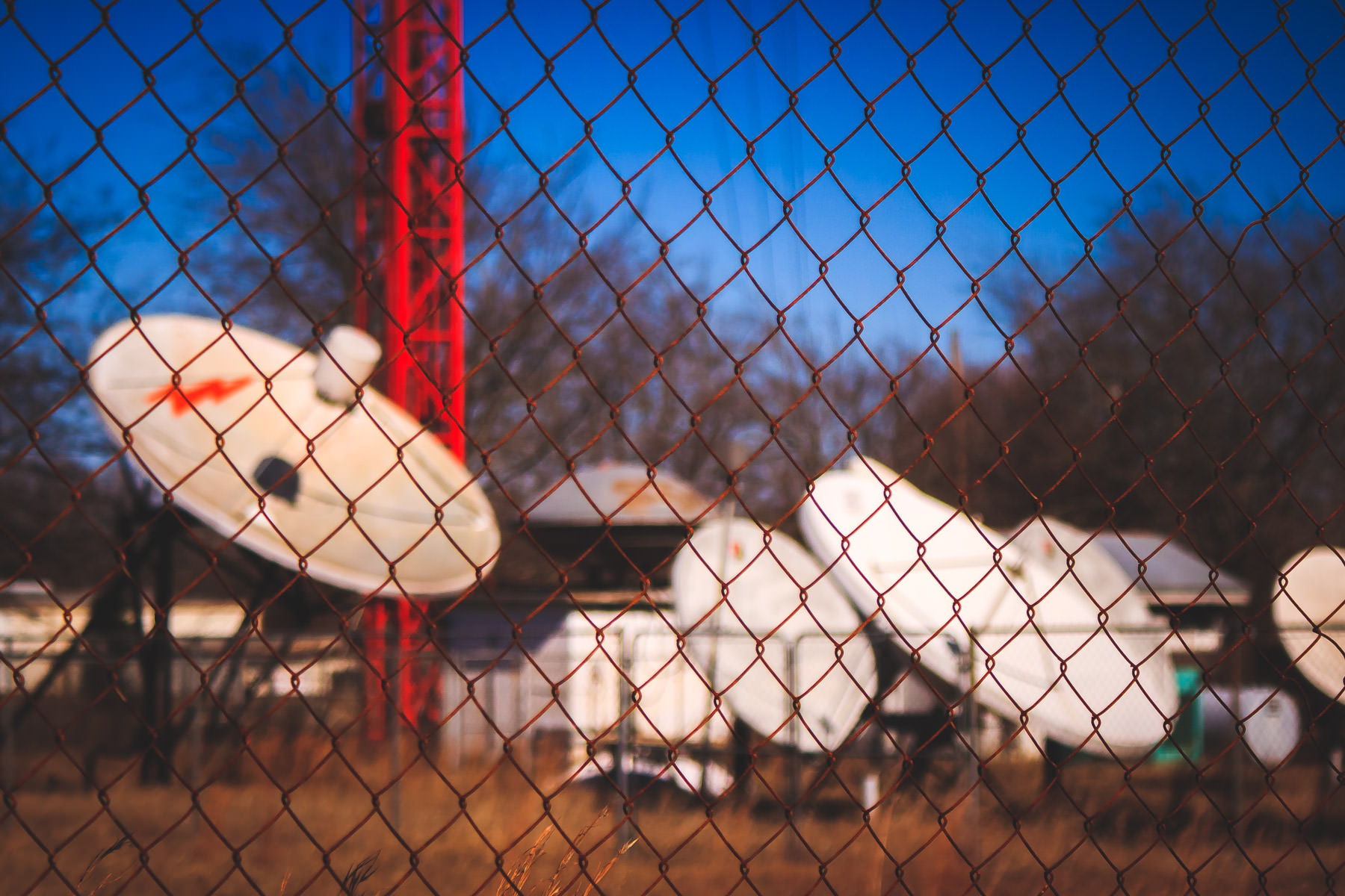 KLTV's uplink and downlink facility in Tyler, Texas.