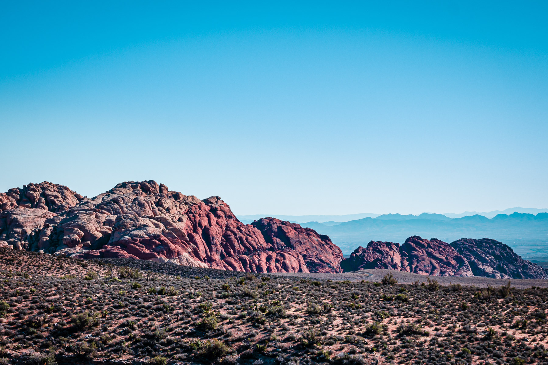 The arid landscape of Nevada's Red Rock Canyon.