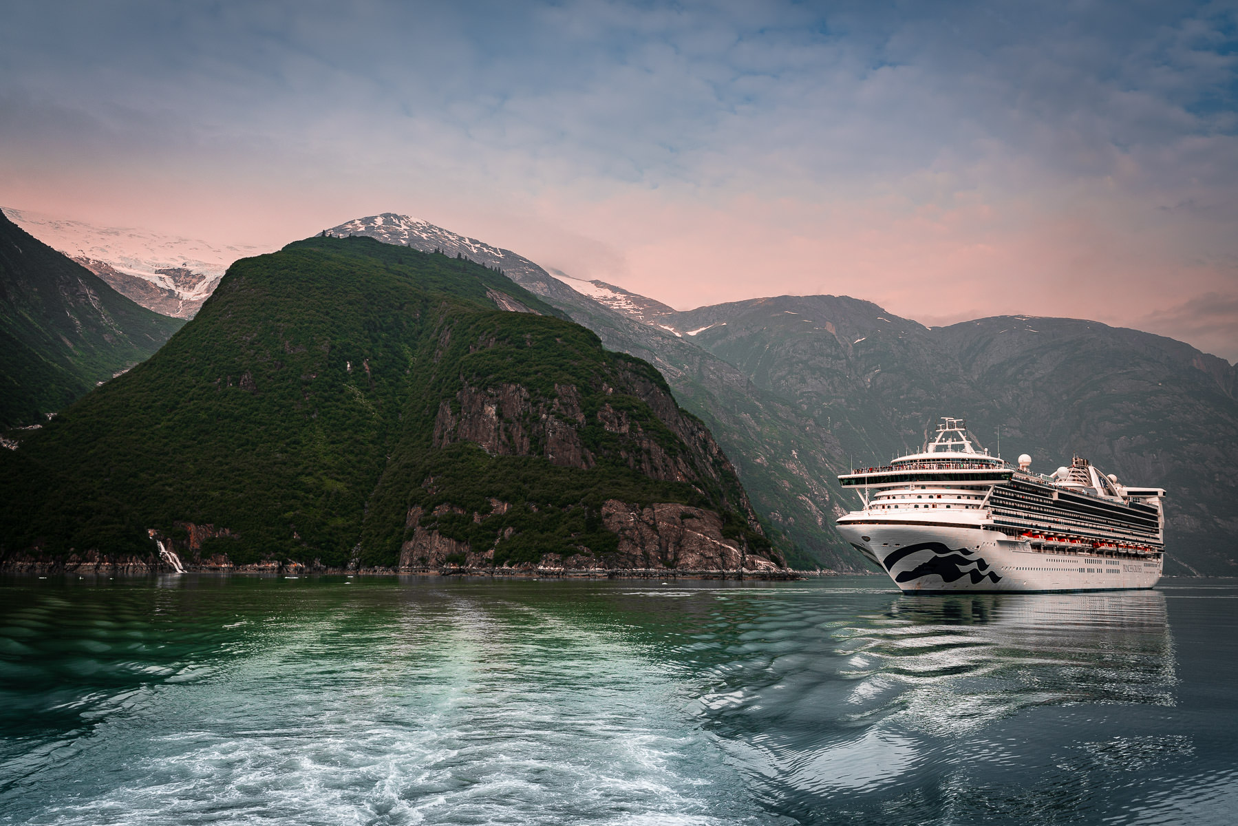 The cruise ship Star Princess sails Alaska's Tracy Arm Fjord.