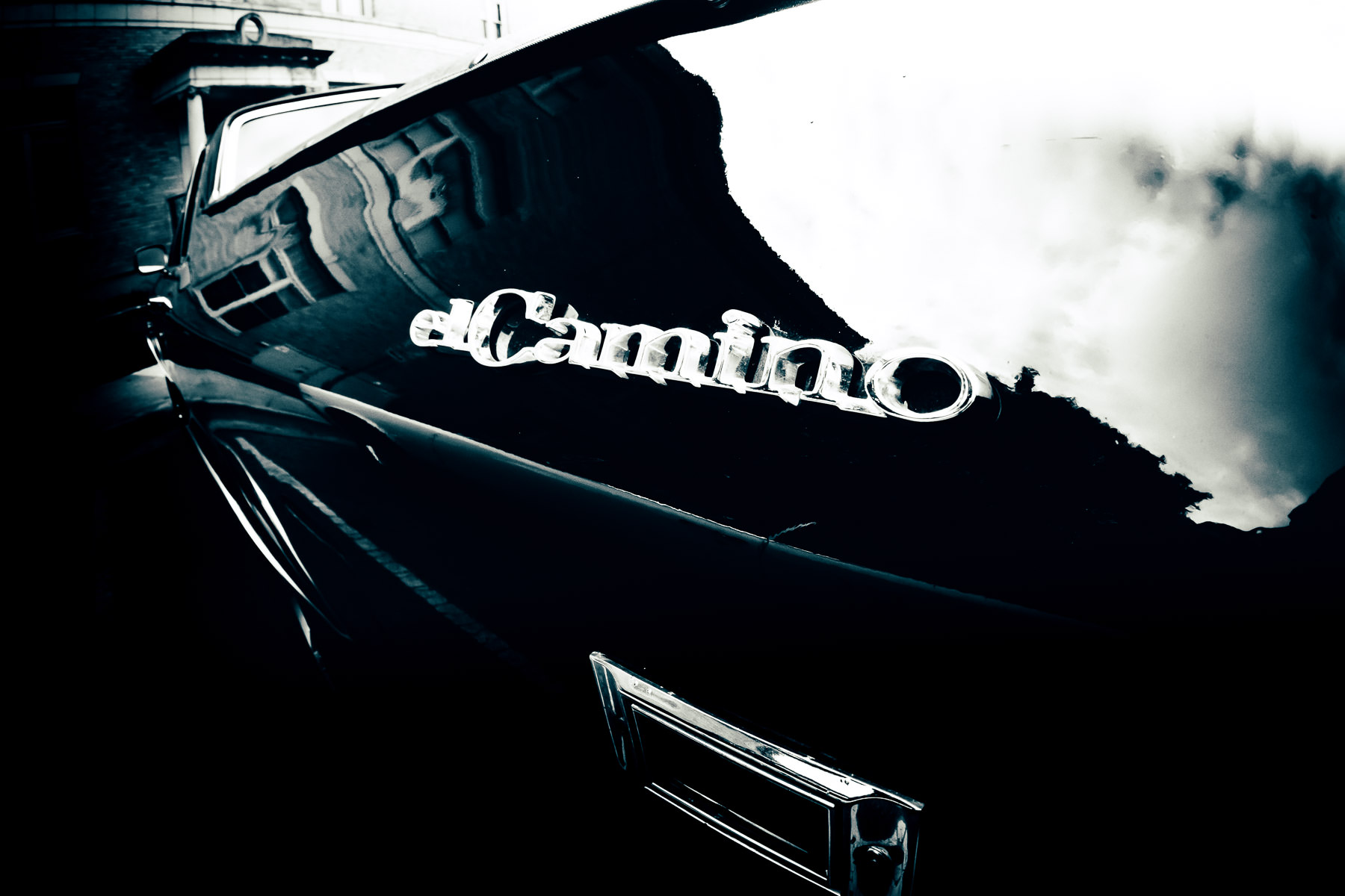 Detail of a Chevrolet El Camino, spotted in Downtown McKinney, Texas.