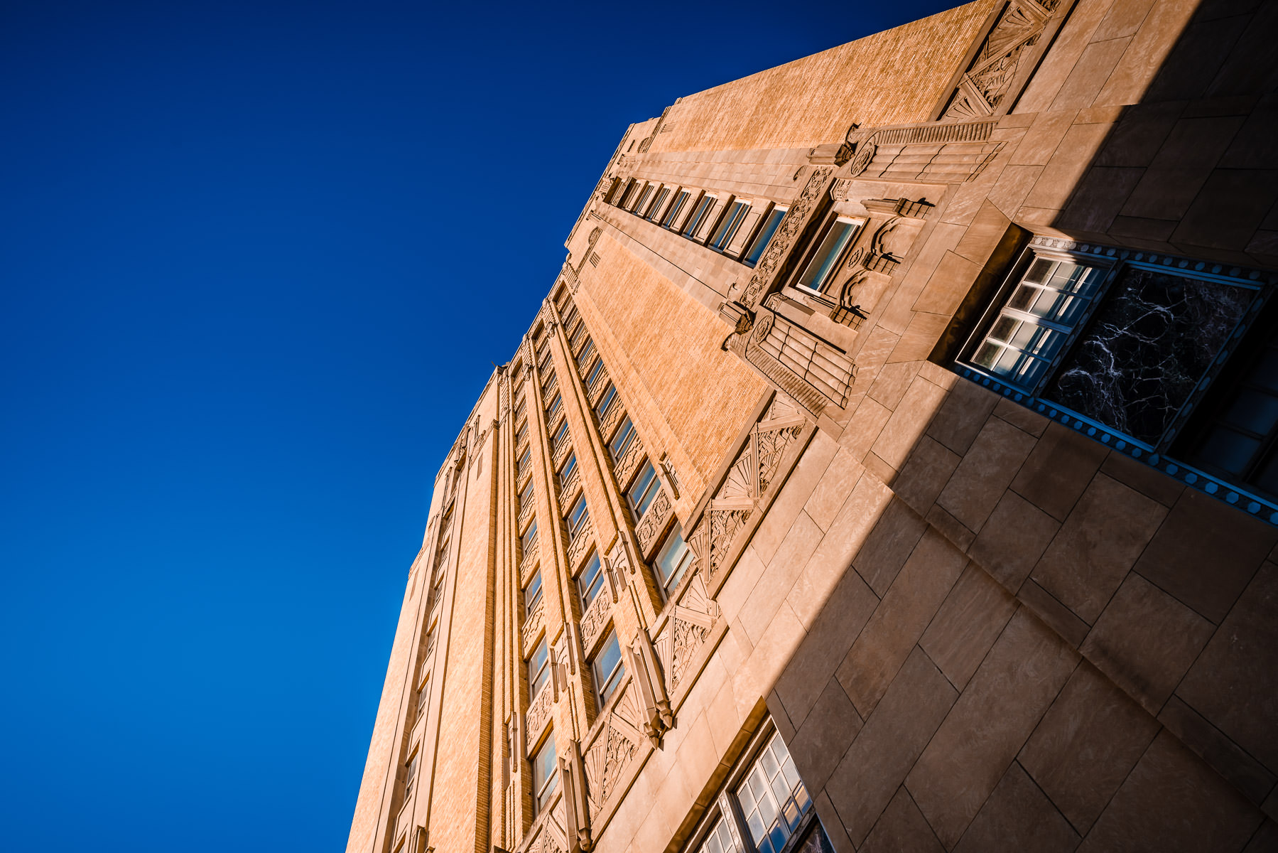 Architectural detail of Fort Worth, Texas' T&P Station, now known as the Texas & Pacific Lofts.