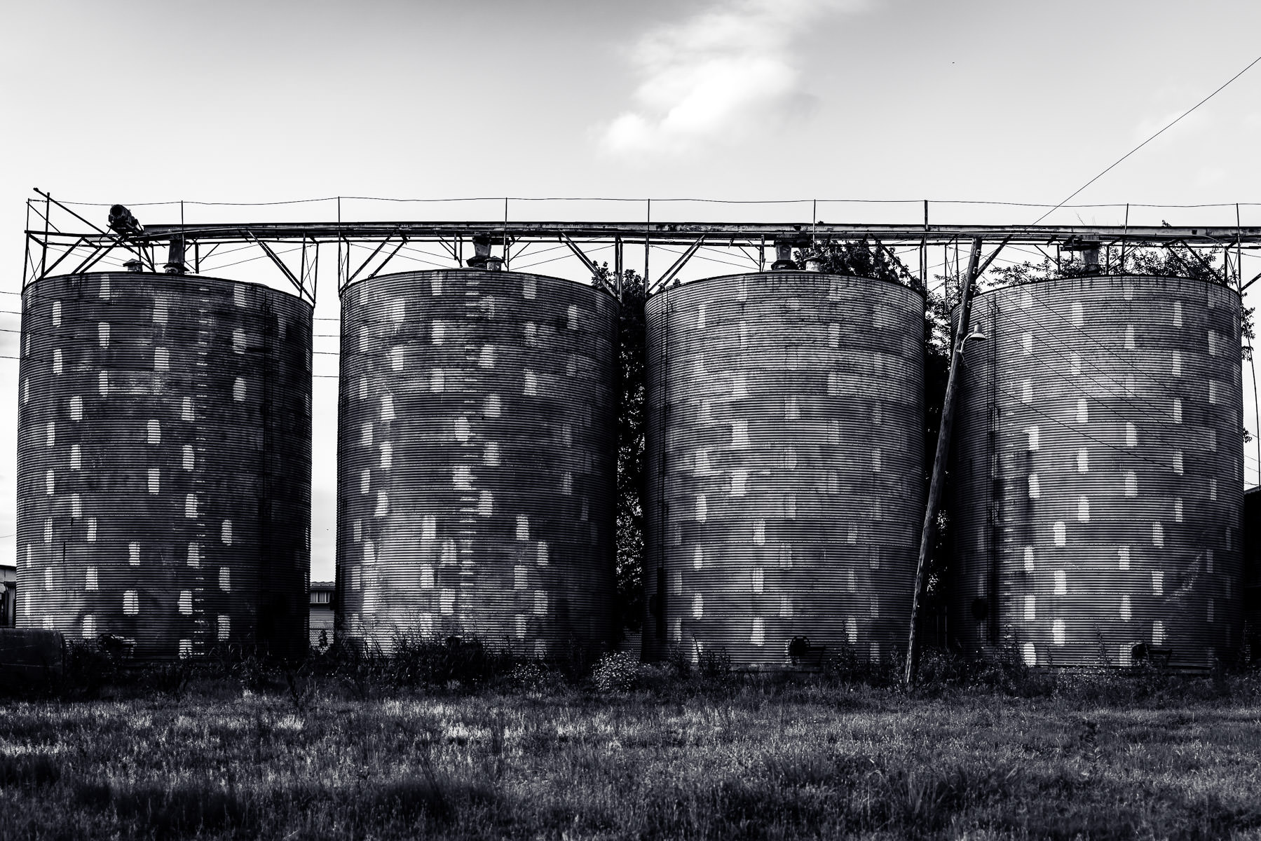 Silos in Celina, Texas.
