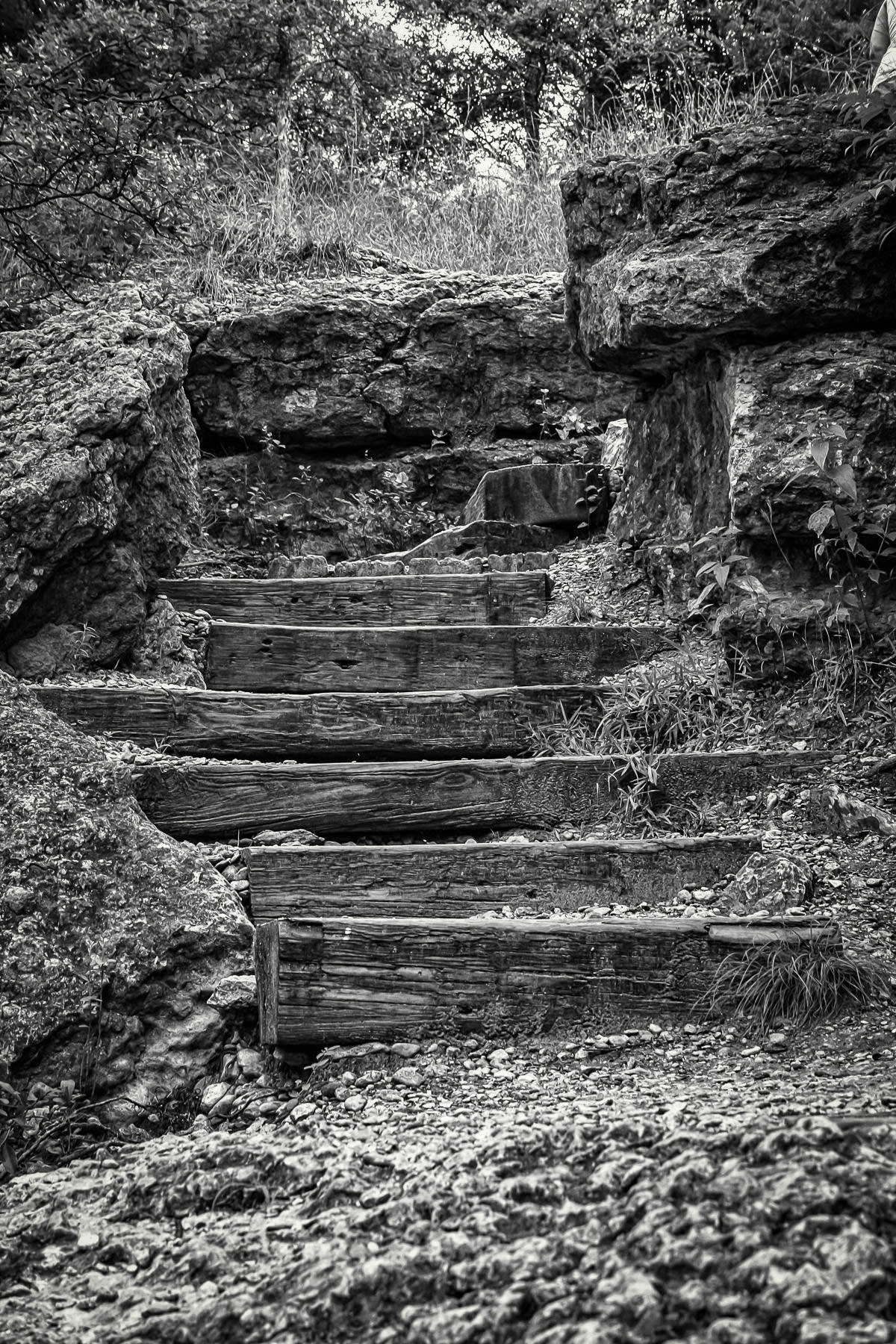 railroad tie steps