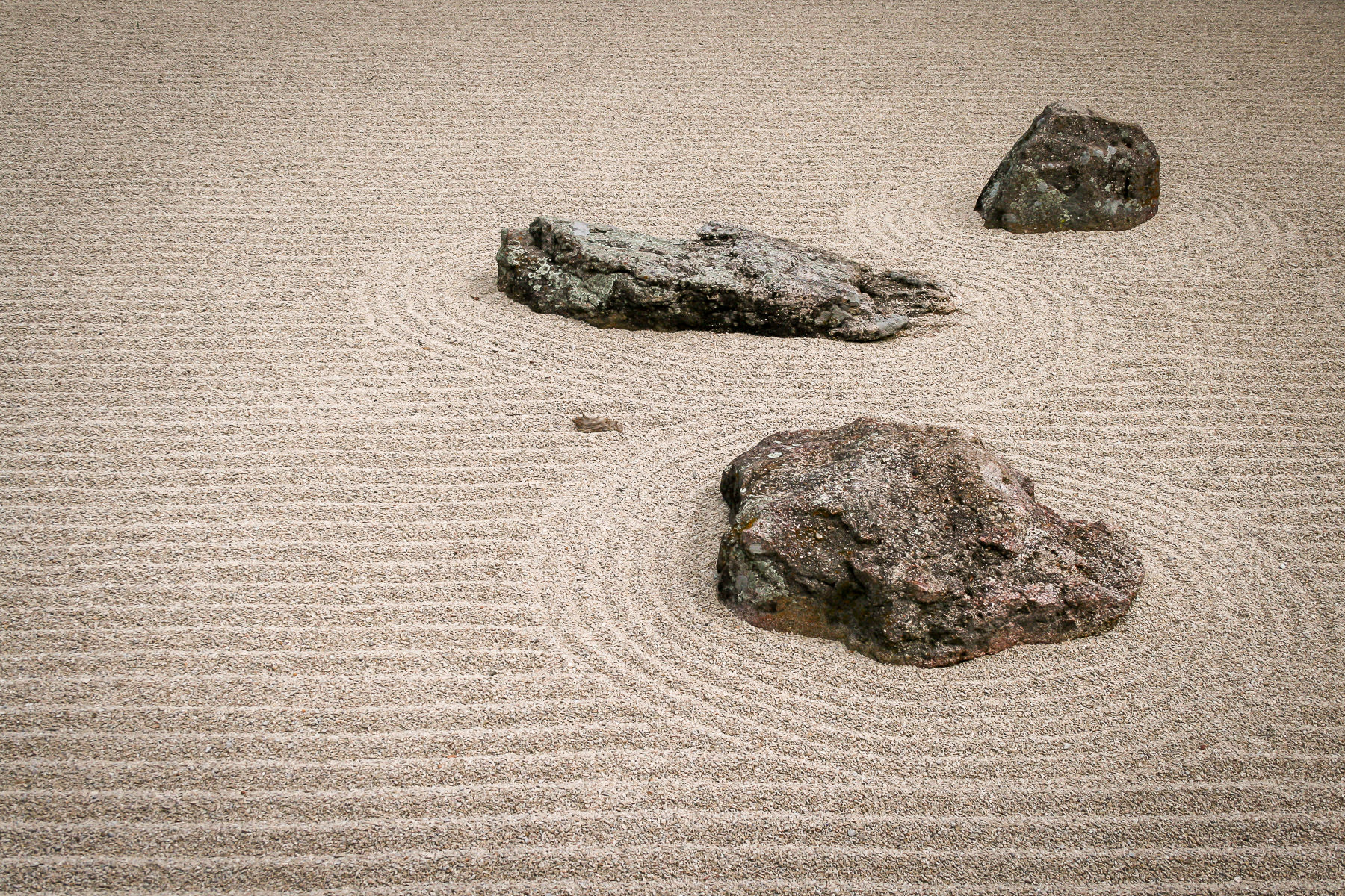 The Zen Garden at the Japanese Gardens in Fort Worth, Texas.