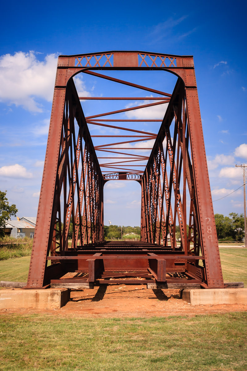 An old railroad bridge on display at Fort Richardson State Park, Jacksboro, Texas.