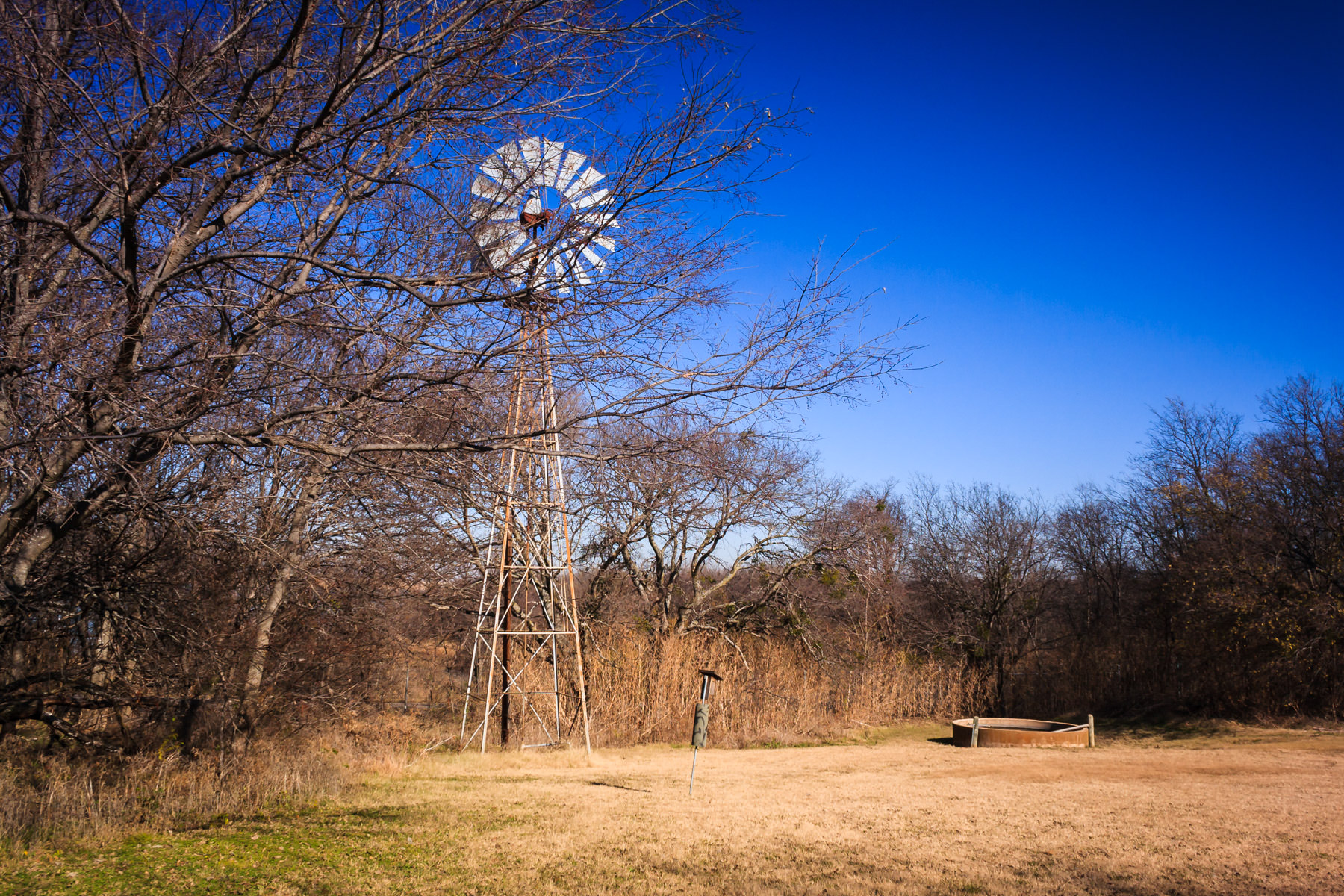 One of the windmills at Penn Farm in Cedar Hill State Park, Texas.