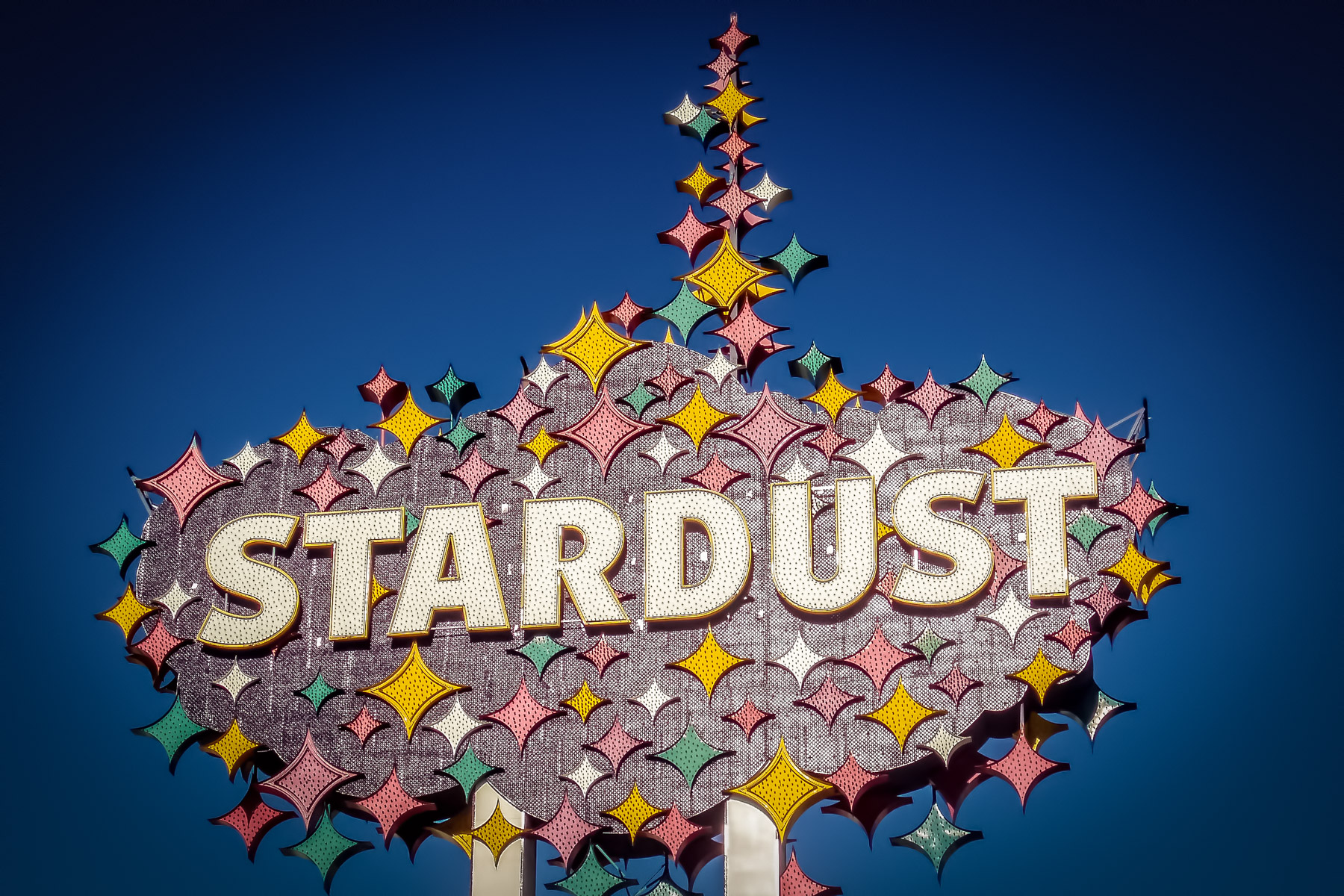 The sign at the Stardust Casino in Las Vegas shortly before it was torn down in 2007.