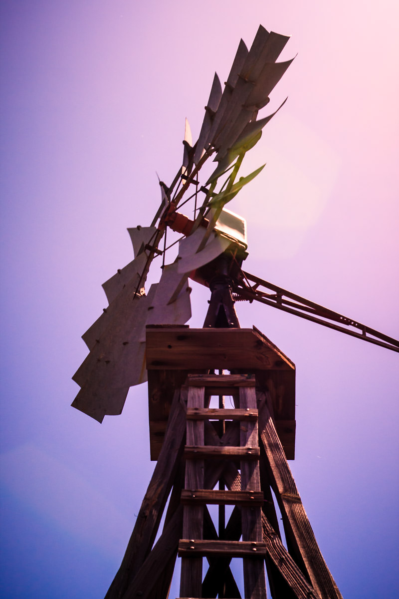 An old windmill in downtown Grapevine, Texas.