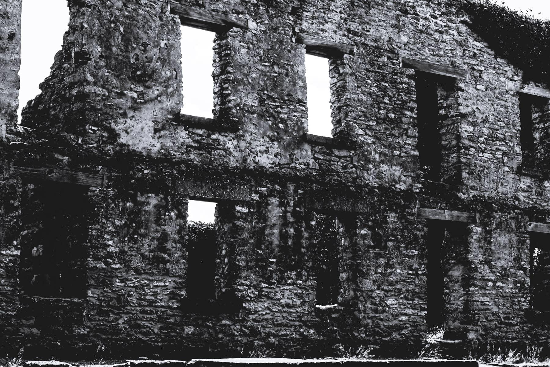 Crumbling ruins of Fort Washita, Oklahoma.