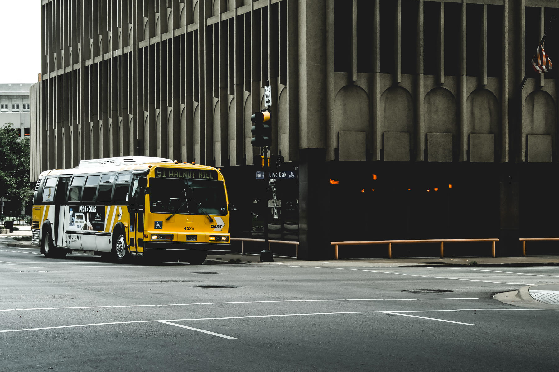 A DART bus spotted in Downtown Dallas, Texas