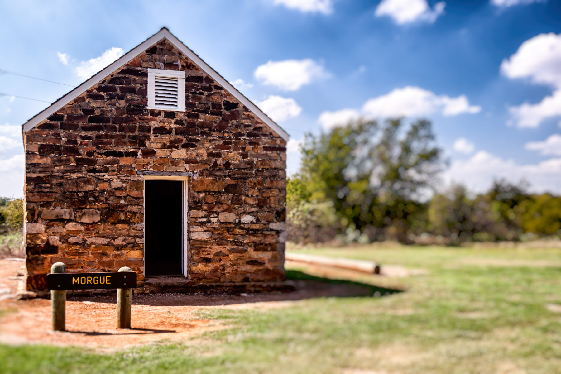 The morgue building at Fort Richardson State Park, Jacksboro, Texas.