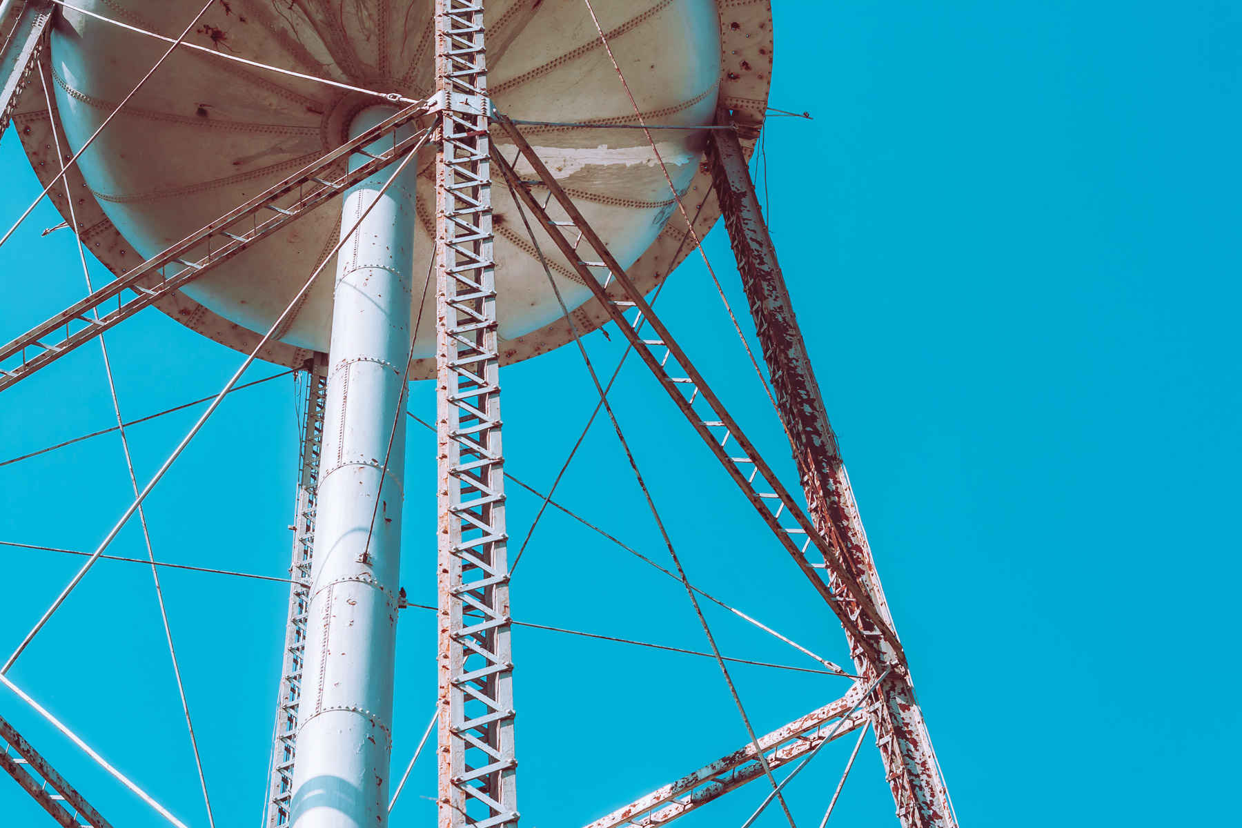 Detail of a water tower spotted in Pilot Point, Texas.