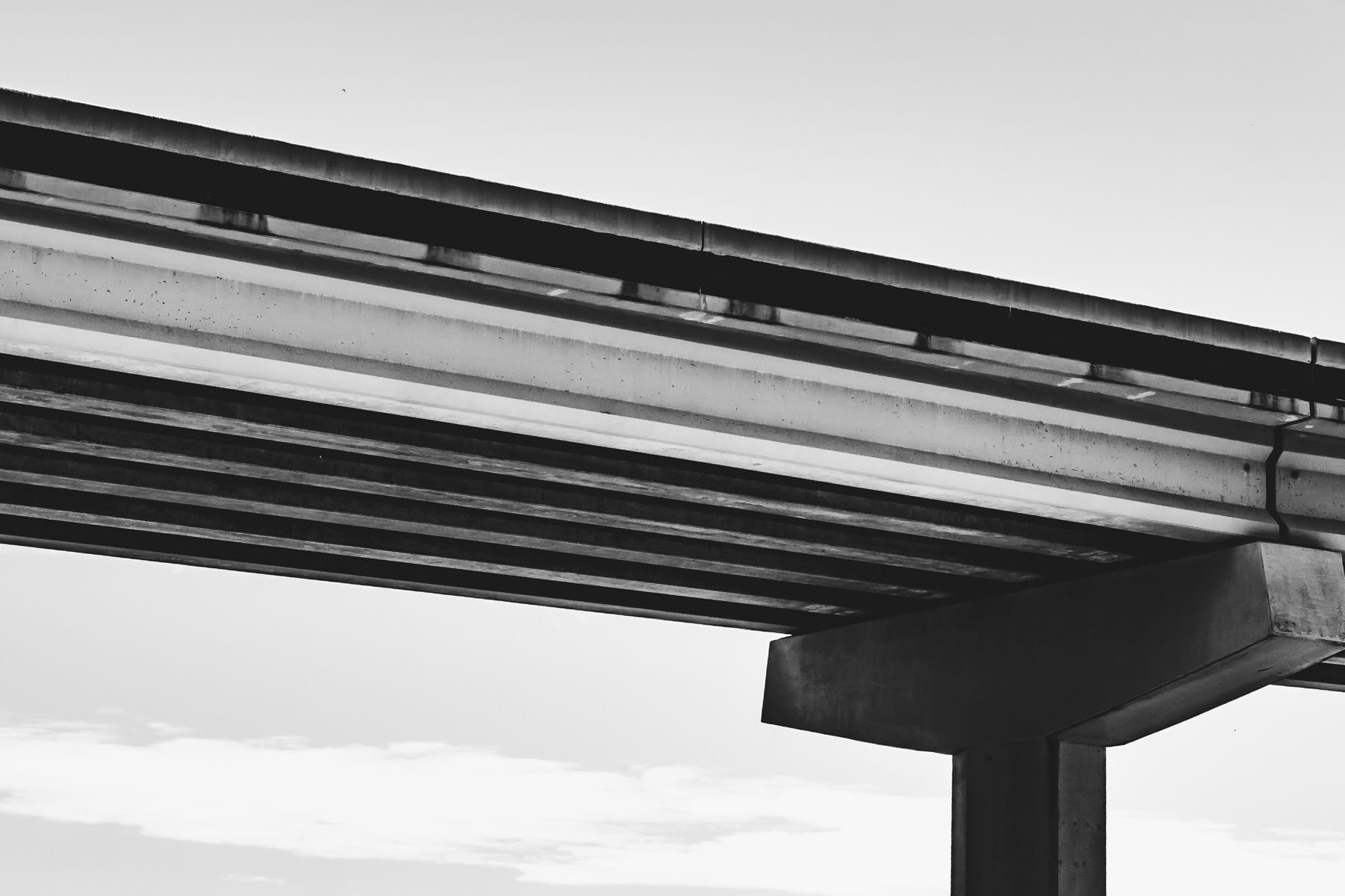 Detail of a bridge support on the President George Bush Turnpike in Plano, Texas.