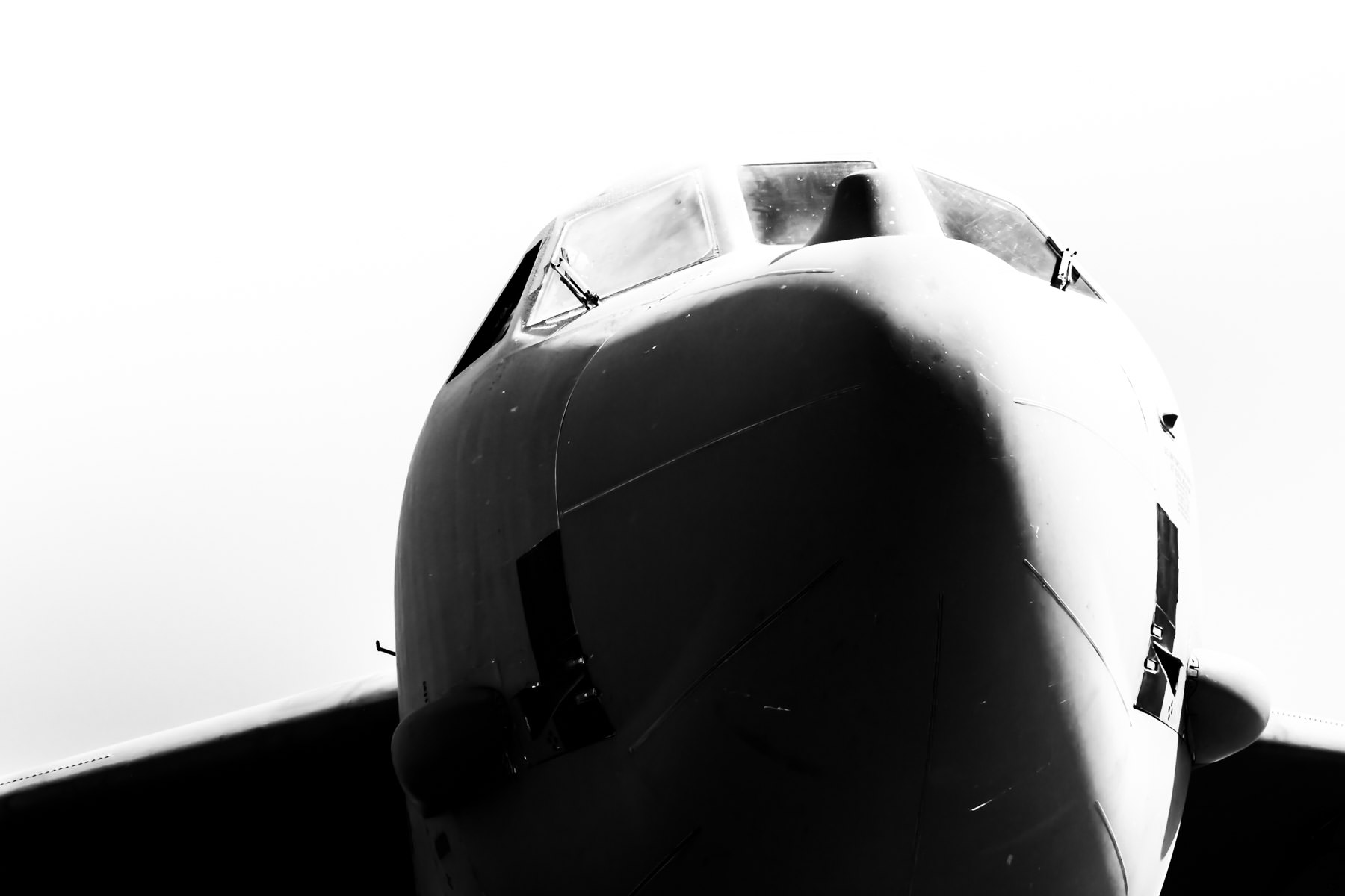 The cockpit of a B-52, spotted at the Fort Worth-Alliance Air Show, Alliance-Fort Worth Airport, Texas.
