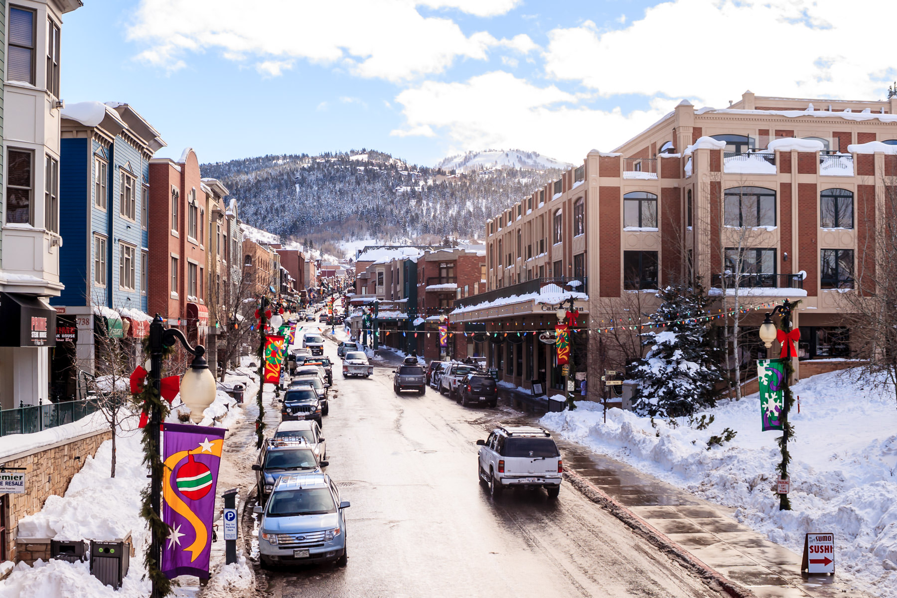 Park City, Utah, looking down Main Street.