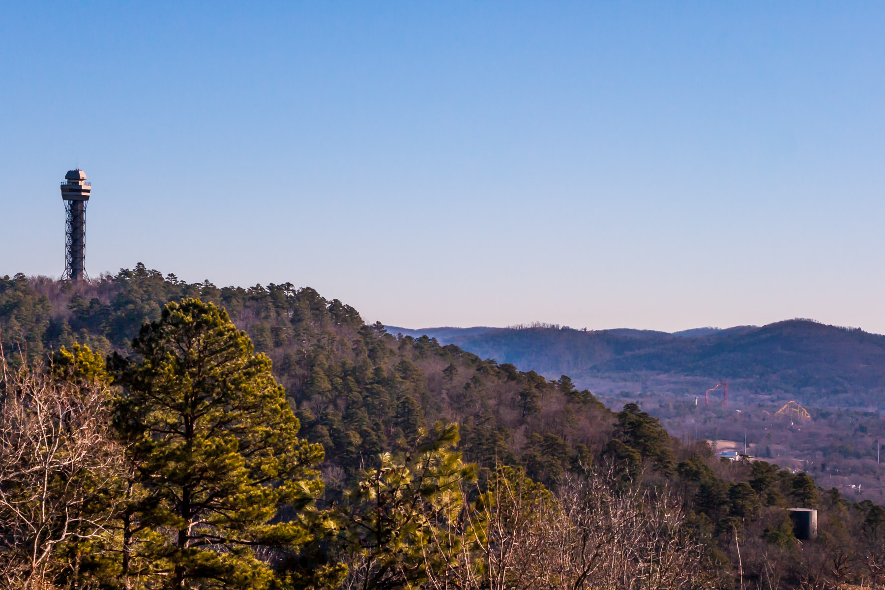 An observation tower in the hills above Hot Springs, Arkansas.