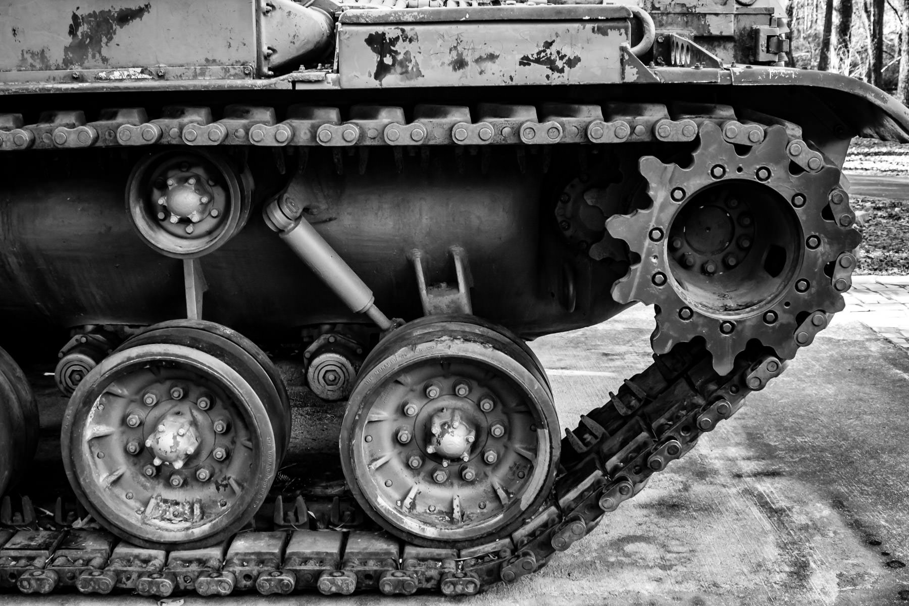 Detail of a tank in a Hot Springs, Arkansas park.