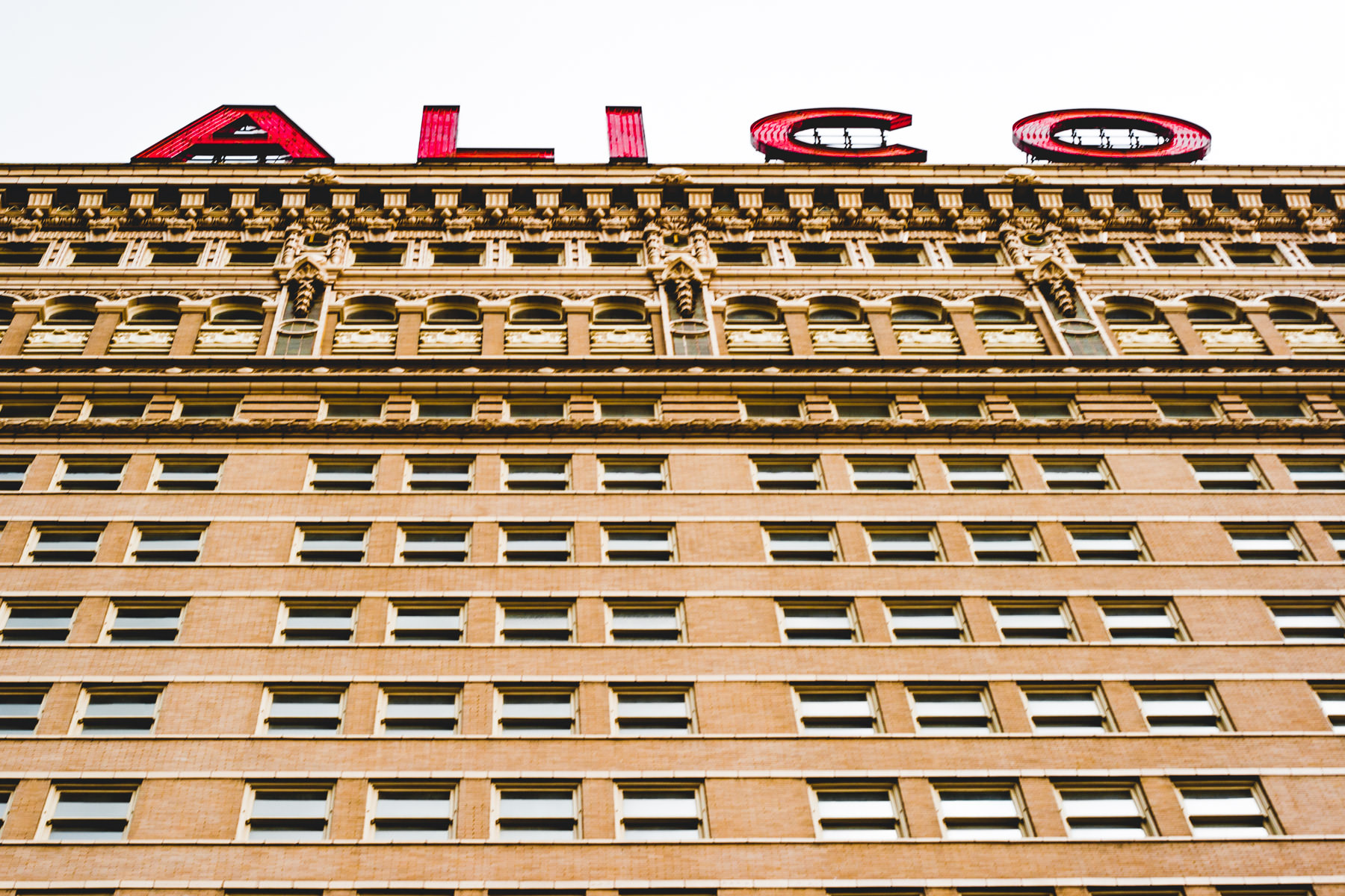The ALICO building rises into the sky over Waco, Texas.